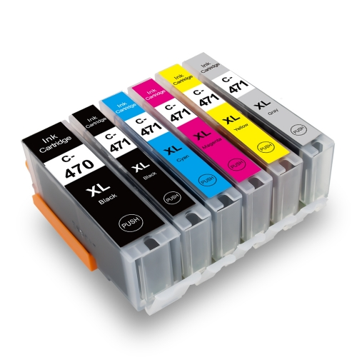C-470XL / 471XL Replacement for Canon PGI 470XL / CLI 471XL Ink Cartridge