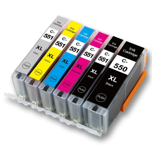 C-550XL / 551XL Replacement for Canon PGI550 / CLI551 Ink Cartridge